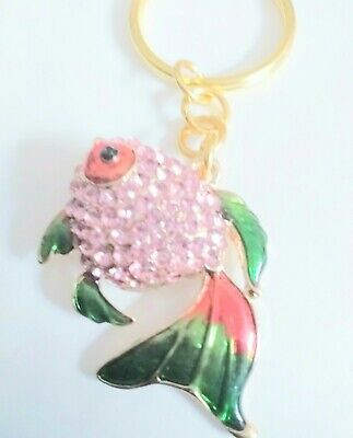 £4.99 • Buy SPARKLY FISH   Keyring  ❤Handmade With Love ❤  Free Postage
