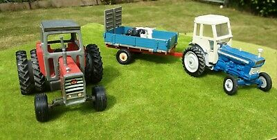£33.69 • Buy Britains Farm 1:32 Fordson 5000, Massey 595 Twin Wheel And Animal Transporter