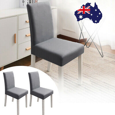 AU19.88 • Buy 6Pcs Long Back Chair Slipcover Washable Large Stretch Dinning Seat Cover