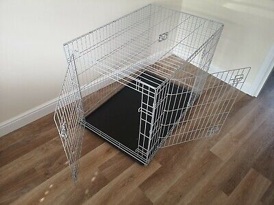 £50 • Buy Pets At Home Large Grey Double Door Dog Cage Size - 107cmx72cmx78cm