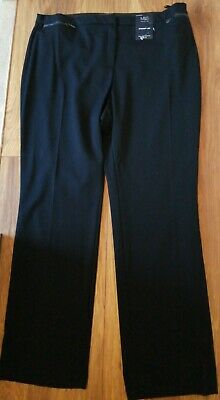£8 • Buy M&S Collection Navy Straight Leg Zip Pocket 2 Way Stretch Trousers Size 20 Bnwt