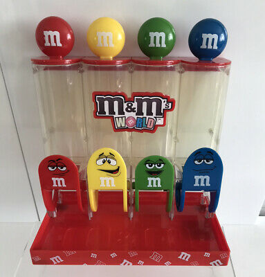 £9.99 • Buy M&M's World 4 Tube Sweet Chocolate Dispenser Collectable- Empty