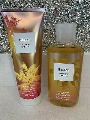 £20 • Buy Bath And Body Works Belize Shower Gel And Body Cream Set