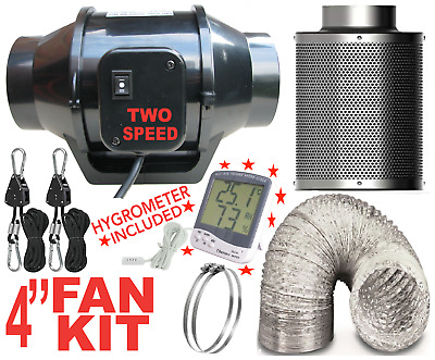 £39.95 • Buy Fan & Filter Extraction 4  Inch Hobby Carbon Filter For Grow Kit.