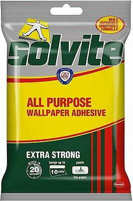 £4.33 • Buy EXTRA Strong Wallpaper ADHESIVE Paste Wall All-Purpose Long-Lasting FREE Post