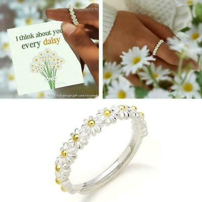£2.60 • Buy Simple Sweet Cute Daisy Flower Ring Adjustable Open Ring For Women Gift