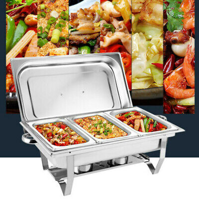 £39.50 • Buy 9L Chafing Dish Set Food Warmer Stainless Steel Pan For Buffet Cater NEW