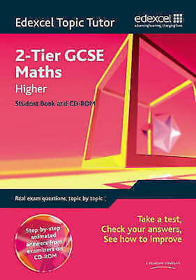 £4.99 • Buy Edexcel Topic Tutor: 2-tier GCSE Maths Higher Student Book & CD-ROM By Pearson …