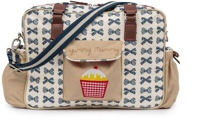 £49.99 • Buy Pink Lining Yummy Mummy Changing Bag In Blue Bows