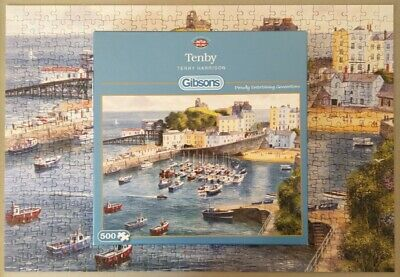 £4.99 • Buy Gibsons 500 Piece Jigsaw Puzzle Tenby By Terry Harrison