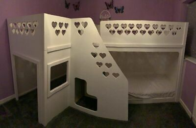 £250 • Buy Kids Funtime Beds Tripple Bunk Bed Set - Good Condition Childrens Cabin Beds