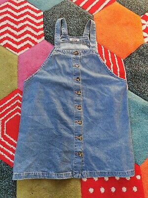 £7 • Buy New Look Size 18 Denim Button Down Pinafore Dungaree Dress