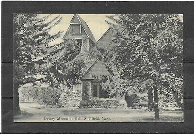 $0.25 • Buy Antique1915 Divided Back Picture Postcard Of Dewey Memorial Hall, Sheffield, MA