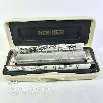 $24.99 • Buy Marine Band Harmonica M Hohner 1896 A440 C Key Scale 1896 In Case W Instructions