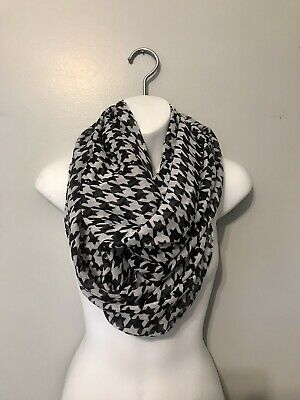 £2.12 • Buy Black And White Houndstooth Infinity Scarf