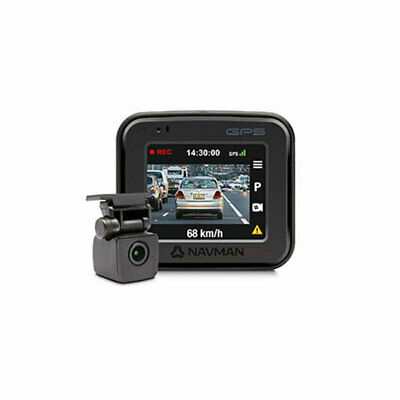 AU269.99 • Buy Navman FOCUS450 Front And Rear Dash Cam With GPS And 2  LCD