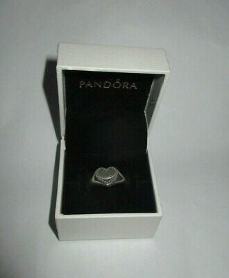 AU49 • Buy PANDORA Ring - Silver Heart Signet Size 60 With Clear Cz  - 191042CZ