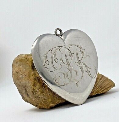 £152.62 • Buy Mermod & Jaccard Antique Victorian Large Sterling Silver Heart Locket Etched