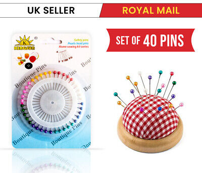 £2.49 • Buy Dressmaking Pearl Fine Glass Head Tailors Pins Quilting Sewing Craft Assorted UK