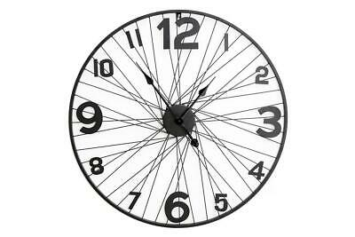 £19.99 • Buy 70cm Large Bike Wheel Wire Wall Clock Home Office Decoration