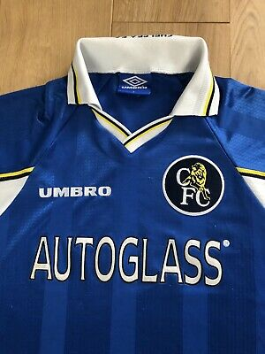 £25 • Buy Chelsea FC Home Shirt 96-98 Autoglass Size: Youth