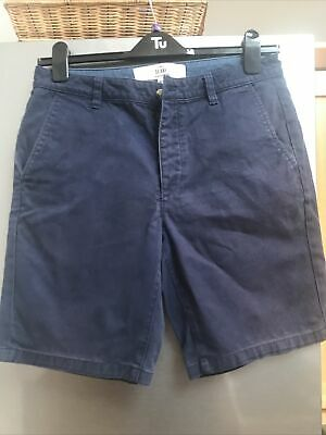 £2.99 • Buy Mens Topman Skinny Shorts Navy Waist 32 Inch Button Front