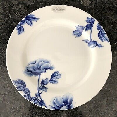 £8.99 • Buy Royal Worcester Blue Peony 21 Cm Side Plate . New