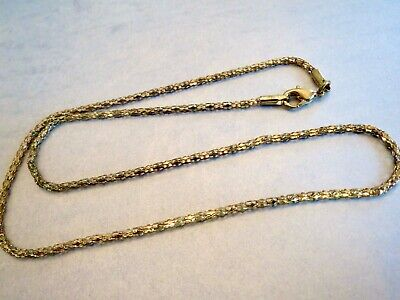 $4.95 • Buy Vintage 2mm Wide YELLOW GOLD ELECTROPLATE POPCORN CHAIN 17.75  Length