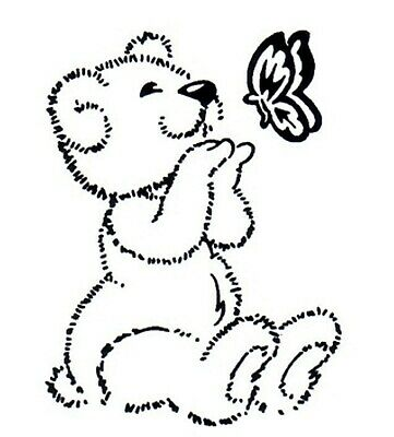 £2.99 • Buy Animal - Animals - Teddy Bear - Butterfly Unmounted Clear Stamp Approx 46x60mm