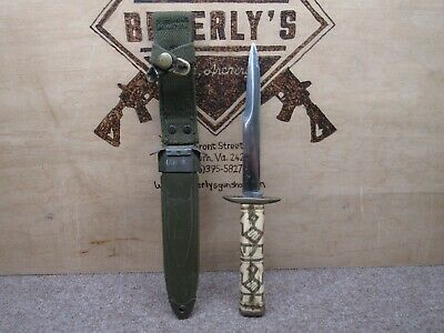 $76 • Buy Us M3 Case Fighting Trench Knife With Bone Handle And M8 Scabbard