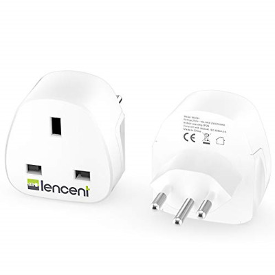 £16.99 • Buy LENCENT 2X UK To Switzerland Plug Adapter, Grounded Swiss Travel Adapter For And