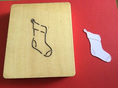 """£5 • Buy 1""""  THICK WOODEN DIE  Christmas Stocking Only Suitable  For Big Machines"""