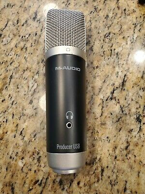 $15 • Buy M-Audio Producer USB Microphone Black Audio Mic For Recording, Audio Streaming