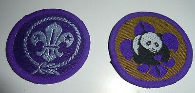 £1.99 • Buy Scout Cubs Beaver Woven Cloth Badges Patches X 2