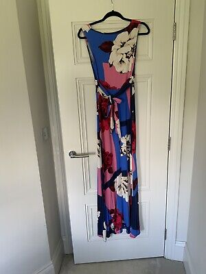 £13 • Buy Phase Eight Floral Blue Maxi Dress Size 10