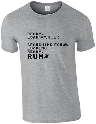 £9.95 • Buy Run Command Prompt T-shirt, Commodore, C64, Running, Fitness, Geek, All Sizes,
