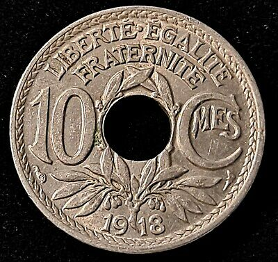 £1.42 • Buy 1918 France 10 Centimes Old Coin