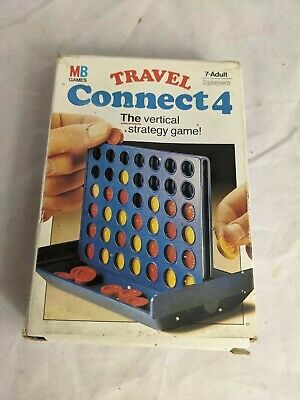 £6.99 • Buy Vintage Connect 4 Travel Game MB Games 1984 Complete Strategy Compact