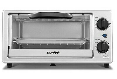 £21.66 • Buy *BRAND NEW* Comfee' Toaster Oven Countertop, 4-Slice, Compact Size, White