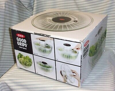 """£15.58 • Buy Large 10"""" Clear OXO Good Grips Salad Spinner"""