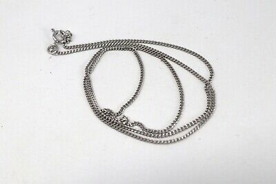 £7 • Buy Excellent Weighty Vintage 9ct 375 White Gold Curb Link Necklace Chain 45.5cm #13