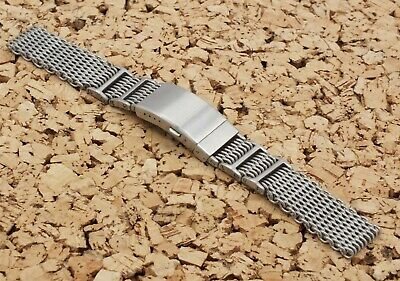 £3.99 • Buy Brushed Stainless Steel Double Loop H Link Watch Strap 22mm