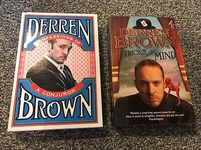 £1.99 • Buy DERREN BROWN - TRICKS OF THE MIND, CONFESSIONS OF A CONJUROR - AUTOBIOGRAPHY X2