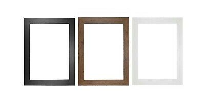 £3.70 • Buy A1 A2 A3 A4 A5  Black Photo Frame White Picture Frame  Poster Frames Walnut 30mm