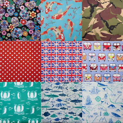 £4.99 • Buy 100% Cotton Print Fabric - Curtains Cushions Upholstery P Atchwork (30 Designs)