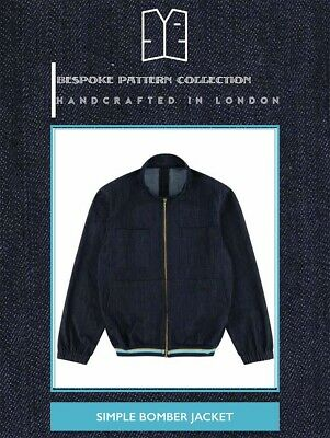 £20.99 • Buy Bespoke Pattern Collection Mens  - Simple Bomber Jacket - Sewing Paper Pattern