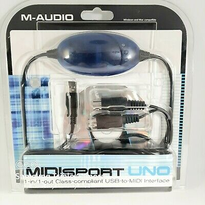 $29.90 • Buy M-Audio MidiSport Uno 1-In/1-Out Cable USB MIDI Interface Mac PC New In Box