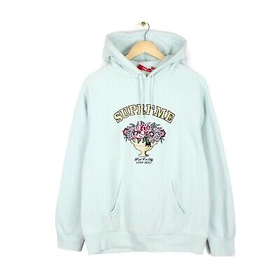 $ CDN343.17 • Buy Supreme F**K Em All 2017 Centrepiece Mens Ice Blue Embroidered Hoodie - Size L