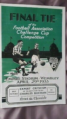 £3 • Buy 1933 FA Cup Final Programme Everton V Manchester City REPRODUCTION