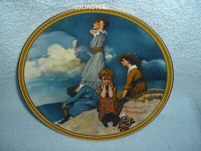 $ CDN16.35 • Buy 1981 Norman Rockwell  Waiting On The Shore  A Edwin M. Knowles Collector Plate